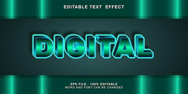 Bewerkbaar teksteffect digitaal