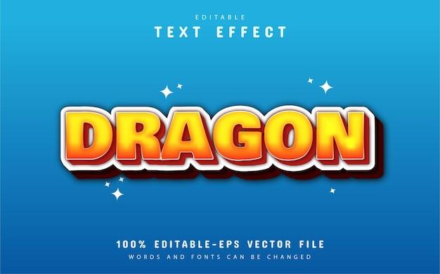 Bewerkbaar teksteffect - draak