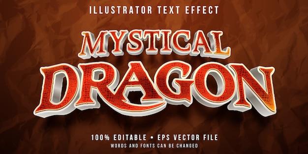 Bewerkbaar teksteffect - draakschaal textuurstijl
