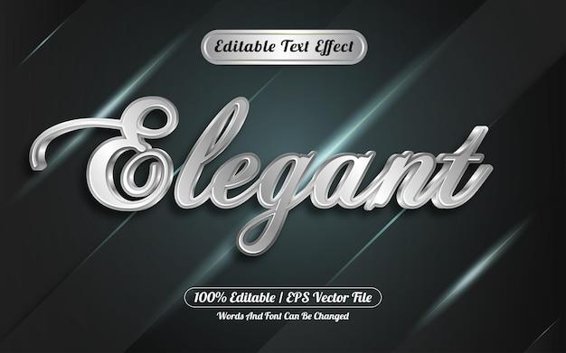 Bewerkbaar teksteffect elegante stijl zilver