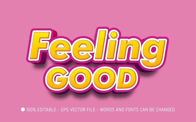Bewerkbaar teksteffect, feeling good-stijlillustraties