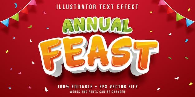Bewerkbaar teksteffect - feeststijl