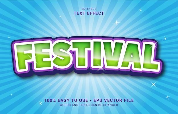 Bewerkbaar teksteffect, festivalstijl kan worden gebruikt om titel te maken