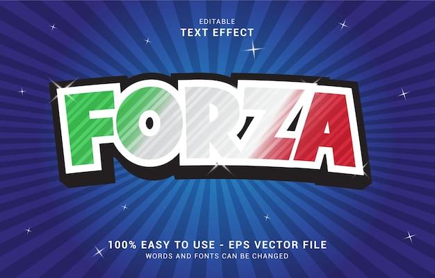 Bewerkbaar teksteffect, forza italy-stijl kan worden gebruikt om titel te maken