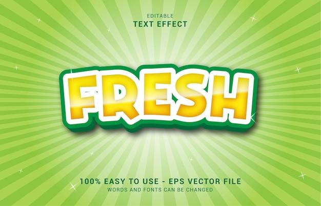 Bewerkbaar teksteffect, frisse stijl kan worden gebruikt om titel te maken
