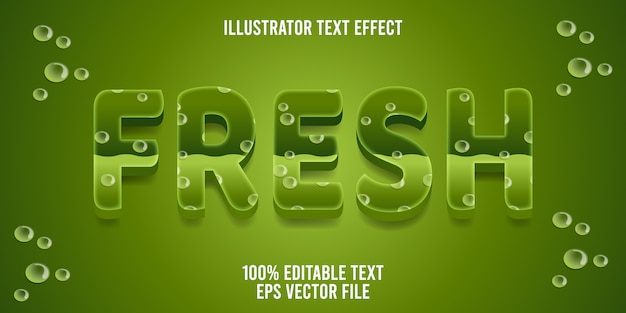 Bewerkbaar teksteffect frisse stijl