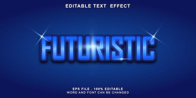 Bewerkbaar teksteffect futuristisch