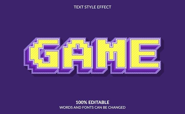 Bewerkbaar teksteffect, gametekststijl met pixeleffect