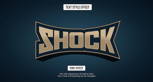 Bewerkbaar teksteffect - gaming e-sport stijllogo