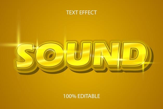Bewerkbaar teksteffect geluid kleur goud