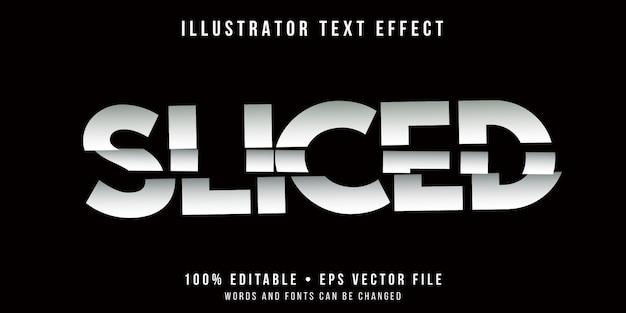 Bewerkbaar teksteffect - gesneden letters stijl
