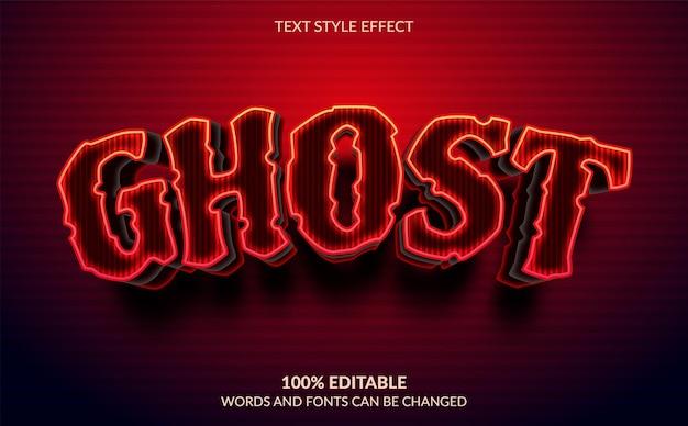 Bewerkbaar teksteffect ghost-tekststijl