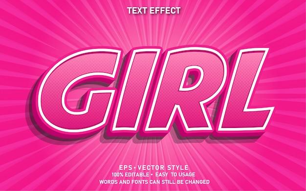 Bewerkbaar teksteffect girl comic