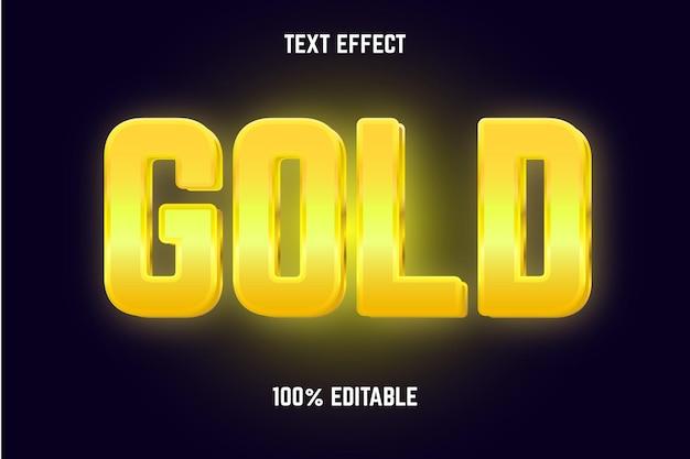 Bewerkbaar teksteffect goud