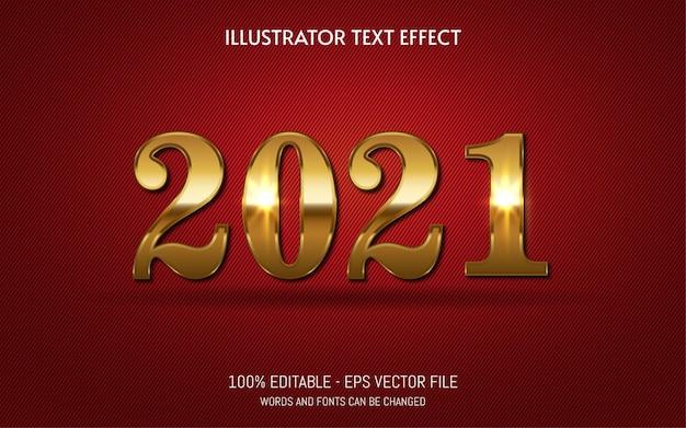 Bewerkbaar teksteffect, gouden glansstijlillustraties
