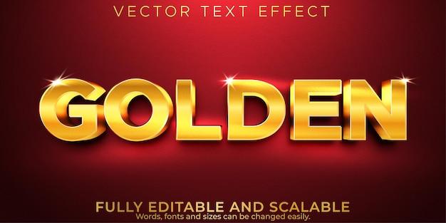 Bewerkbaar teksteffect gouden luxe tekststijl