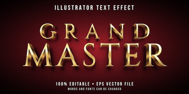 Bewerkbaar teksteffect - gouden meesterstijl