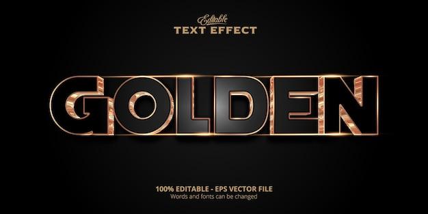 Bewerkbaar teksteffect, gouden tekst