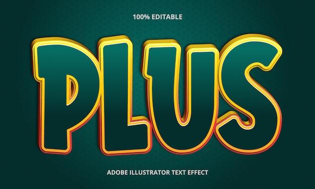 Bewerkbaar teksteffect - groen plus titelstijl
