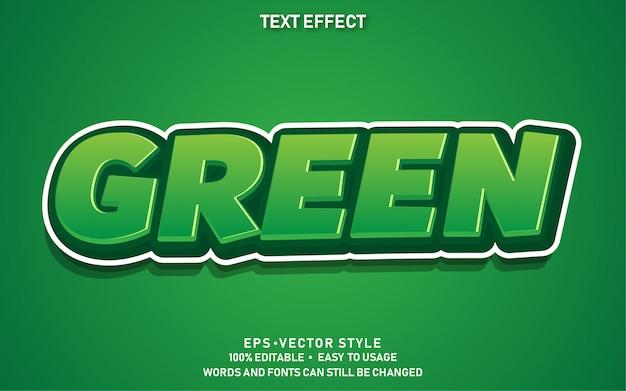 Bewerkbaar teksteffect groen
