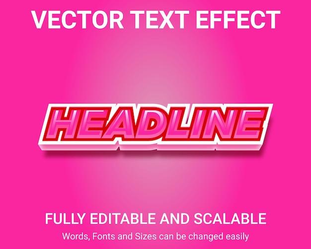 Bewerkbaar teksteffect - headline tekststijl