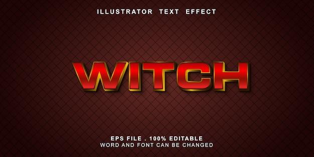 Bewerkbaar teksteffect heks