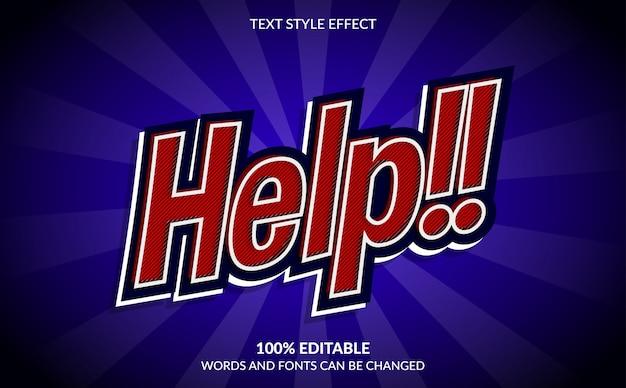 Bewerkbaar teksteffect, hel met komische tekststijl