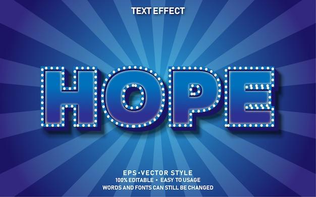 Bewerkbaar teksteffect hope premium