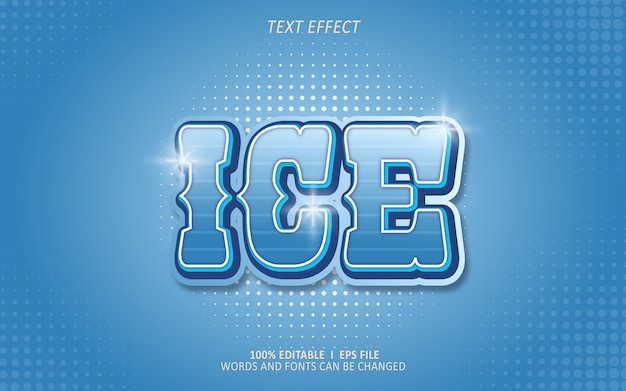 Bewerkbaar teksteffect, ijseffect