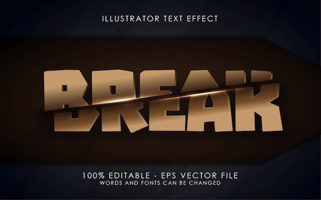 Bewerkbaar teksteffect, illustraties in break-stijl