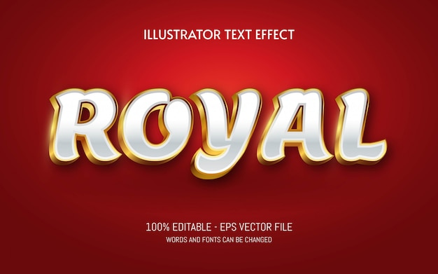 Bewerkbaar teksteffect, illustraties in koninklijke stijl