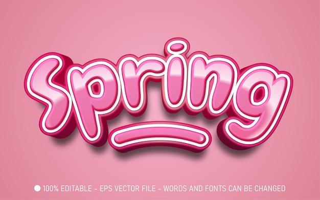 Bewerkbaar teksteffect, illustraties in lentestijl