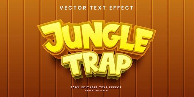 Bewerkbaar teksteffect in jungle trap-stijl