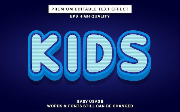 Bewerkbaar teksteffect in kinderstijl