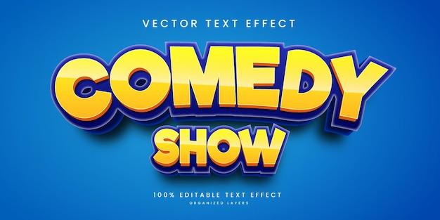 Bewerkbaar teksteffect in komische showstijl