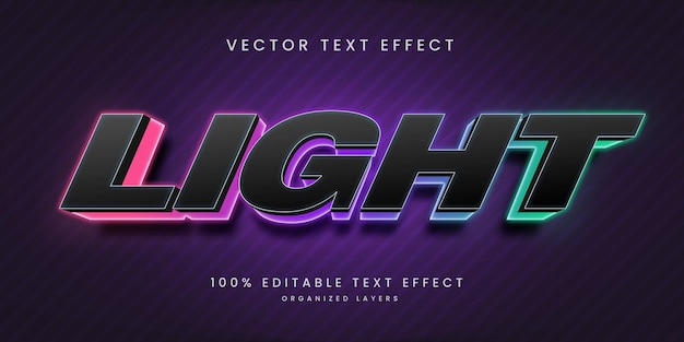 Bewerkbaar teksteffect in lichte stijl