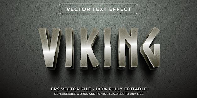 Bewerkbaar teksteffect in metallic oude karaktersstijl