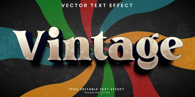 Bewerkbaar teksteffect in vintage stijl