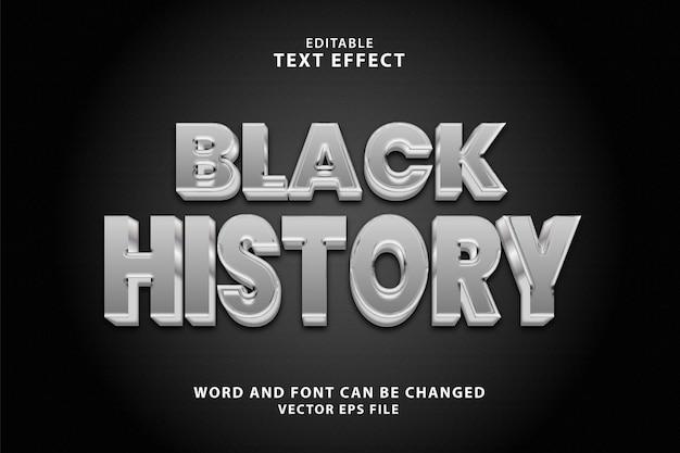 Bewerkbaar teksteffect in zwarte geschiedenis
