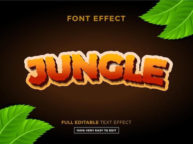 Bewerkbaar teksteffect - jungle