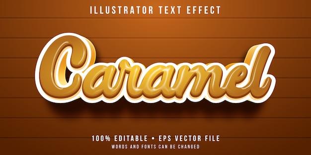 Bewerkbaar teksteffect - karamel letters stijl