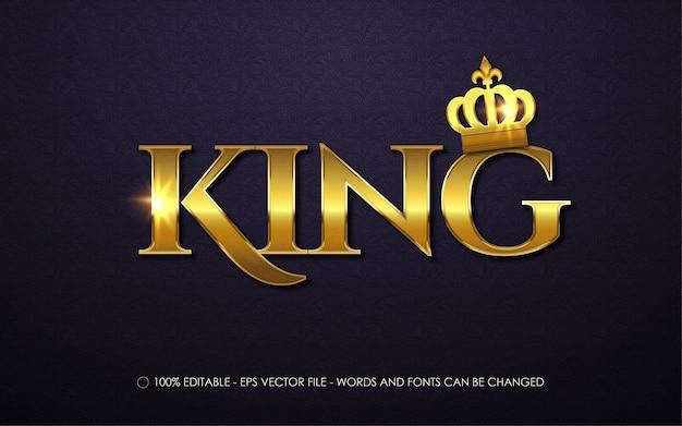 Bewerkbaar teksteffect king-stijlillustraties