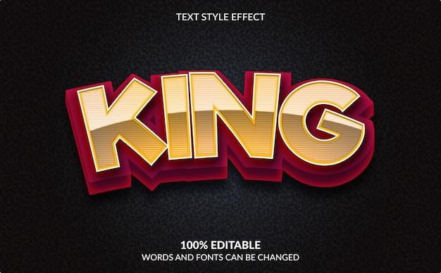 Bewerkbaar teksteffect, king-tekststijl