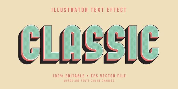 Bewerkbaar teksteffect - klassieke stijl