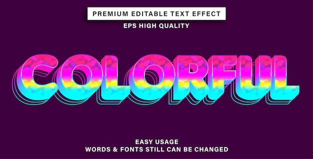 Bewerkbaar teksteffect kleurrijk