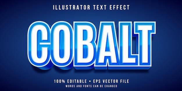 Bewerkbaar teksteffect - kobaltblauwe stijl