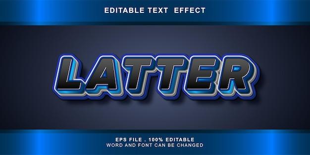Bewerkbaar teksteffect laatste
