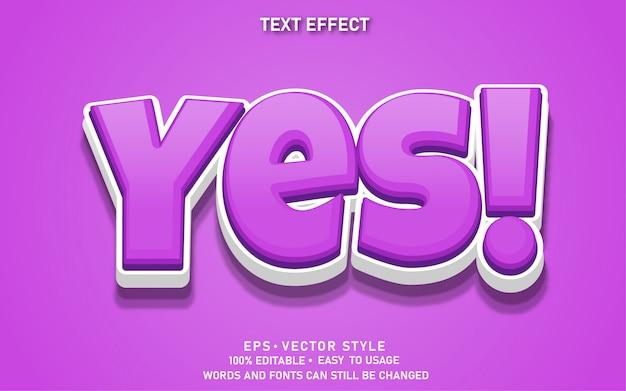 Bewerkbaar teksteffect leuk ja