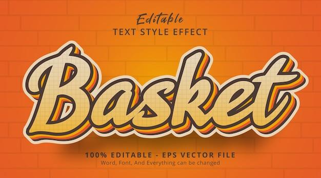 Bewerkbaar teksteffect, mandtekst op oranje kleurencombinatie-effect