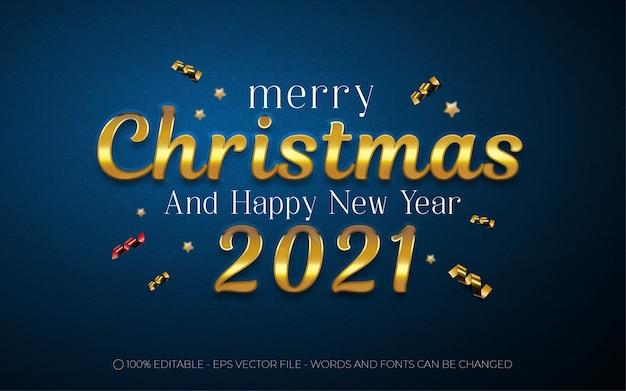 Bewerkbaar teksteffect, merry christmas-stijlillustraties